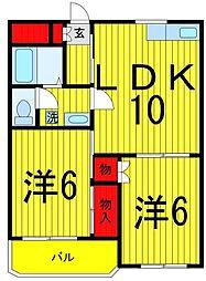 コーポ柳川[303号室]の間取り