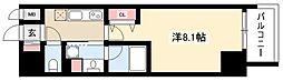 RESIDENCIA MARUNOUCHI NORTH 11階1Kの間取り