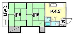 エトワール松山[205 号室号室]の間取り