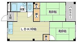兵庫県姫路市八代の賃貸マンションの間取り