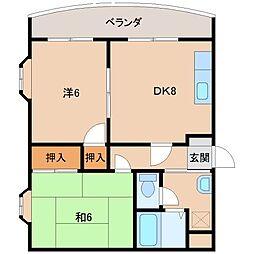 大都マンション[3階]の間取り