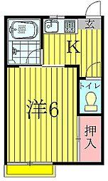千葉県柏市十余二の賃貸アパートの間取り