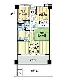 サーパス昭和町駅西[1階]の間取り