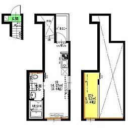 名鉄瀬戸線 矢田駅 徒歩3分の賃貸アパート 3階1SLDKの間取り