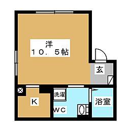 エアリアル錦糸町 3階ワンルームの間取り