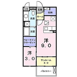 ソレイユ・イーストA棟[1階]の間取り