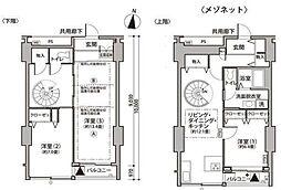 東京メトロ有楽町線 辰巳駅 徒歩9分の賃貸マンション 7階3LDKの間取り