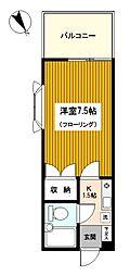 ドリームハイツ三ッ沢II[201号室]の間取り