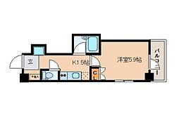 レジディア文京湯島II[2階]の間取り