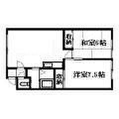 北海道札幌市清田区北野四条3丁目の賃貸アパートの間取り