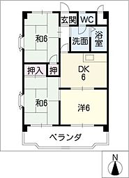 ヴィンテージ本多 III棟[3階]の間取り