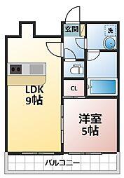 インボイス十三東レジデンス[3階]の間取り