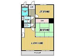 兵庫県神戸市垂水区霞ケ丘5丁目の賃貸マンションの間取り