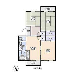 六東苑[2階]の間取り