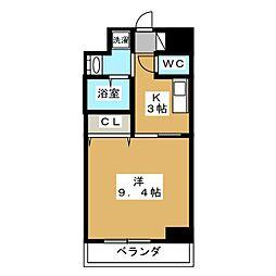 ルラシオン江戸橋[3階]の間取り