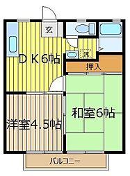 メゾンふたば上福岡[1階]の間取り