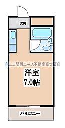 枚岡CTヒルズ[1階]の間取り