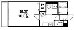 岡山県岡山市北区西市の賃貸アパートの間取り