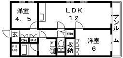 深江橋プラザ[4階]の間取り