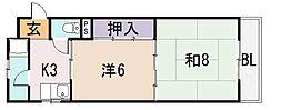 陽光園マンション[4階]の間取り
