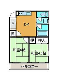 相生コーポフロンティア[3階]の間取り