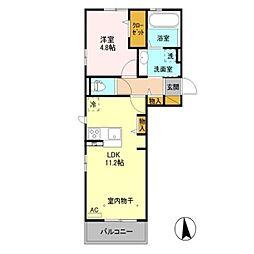 (仮)D-room稲葉字母袋沖[3階]の間取り