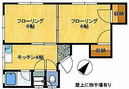 福岡県福岡市博多区須崎町の賃貸アパートの間取り