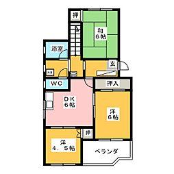 ティーハイム小笠原[5階]の間取り