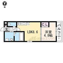 サクシード伏見駅前 1階1LDKの間取り