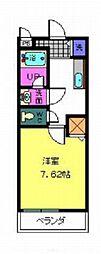 パセオ久米田[1階]の間取り