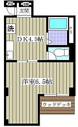 Villa Amour[0205号室]の間取り
