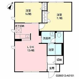 グランドゥール大地 A棟[1階]の間取り