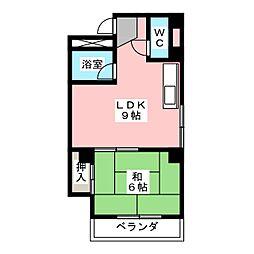 サンシャイン岩倉II[3階]の間取り