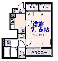 リブリ・三福[1階]の間取り