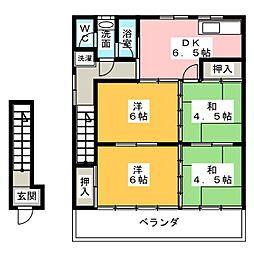 杉山ハイツ[2階]の間取り