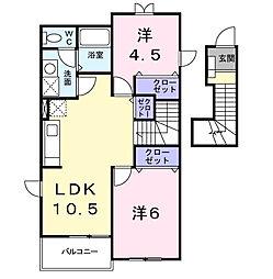 サンパティークII[2階]の間取り