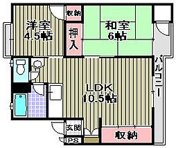 和泉グリーンコーポ[4階]の間取り