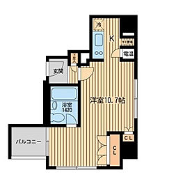 HF三田レジデンス[4階]の間取り