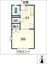 ハイツFUMI[2階]の間取り