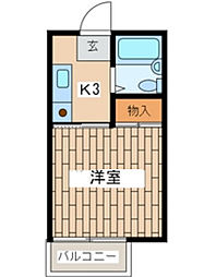 神奈川県横浜市保土ケ谷区桜ケ丘1丁目の賃貸アパートの間取り