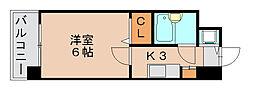 ラレジダンスド福岡県庁前[12階]の間取り