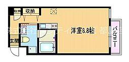アパートメント京橋[2階]の間取り