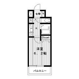 東京都練馬区中村北の賃貸マンションの間取り
