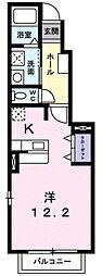 メゾン ド スリジエ[1階]の間取り
