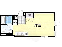 LAPiS原宿2 4階ワンルームの間取り