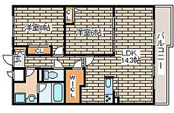 兵庫県神戸市西区玉津町高津橋の賃貸マンションの間取り