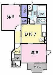 サンパティ2[1階]の間取り