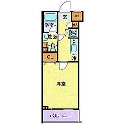 スカイコート東京ベイ・東雲壱番館 1階1Kの間取り