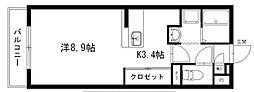 アラモードII[4階]の間取り