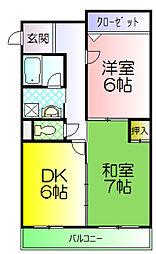 たくわ壱番館[3階]の間取り